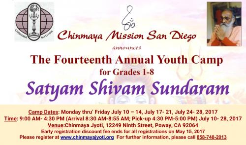 Chinmaya Mission San Diego Summer Youth Camp 2017