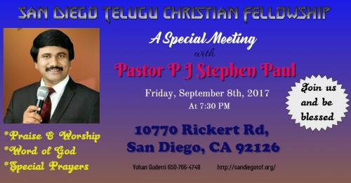 Meeting With Pastor Pj Stephen Paul